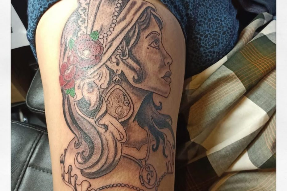 Gipsy woman tattoo